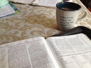 Bible Open, Coffee IMG_7228